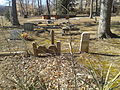 Silverbook Methodist Church - homemade grave markers.jpg