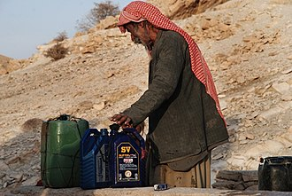 Sinjar Mountains - A Yazidi shepherd on Mount Sinjar