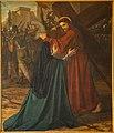 Sint-Pieters-Kapelle Herne Jezus ontmoet zijn moeder 1357.jpg