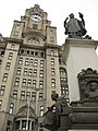 Sir Alfred Lewis Jones Memorial outside the Royal Liver Buildings.jpg
