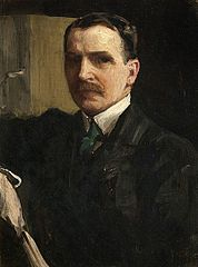 Sir James Guthrie, 1859 - 1930. Artist and President of the Royal Scottish Academy (Self-portrait)