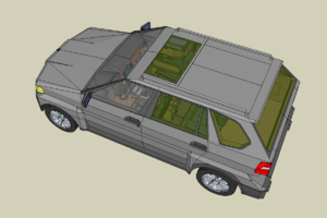 Model of a car made in sketchup