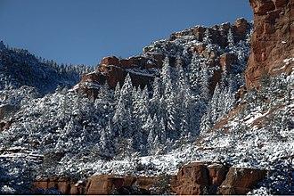 Slide Rock State Park - Slide Rock State Park in snow, 2011.