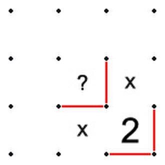 Slitherlink - Image: Slitherlink Unique Solution 1b v 2