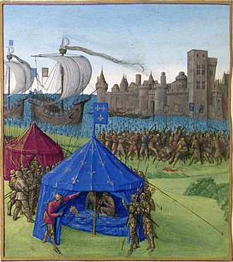 Eighth Crusade - Death of Louis IX during the siege of Tunis