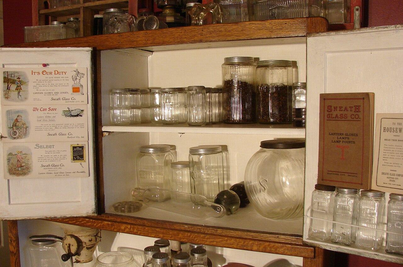 Kitchen Glassware Cabinet