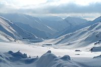 Snow covered mountains outside of Salang tunnel in Afghanistan.jpg