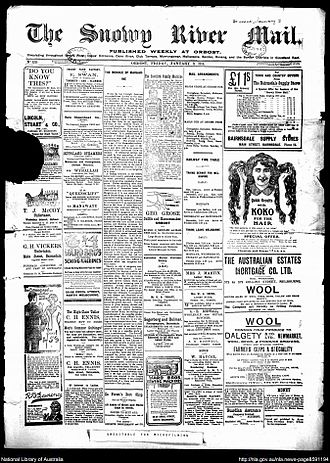 Snowy River Mail - Snowy River Mail 9 January 1914
