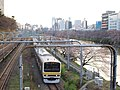 Sobu line train and Kanda river 20100330 3300719 panoramio.jpg