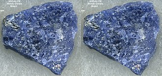 Sodalite - Small specimen of Sodalite from Brazil.