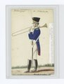 Soldier with a trombone - Blue tailcoat with red piping, white pants (NYPL b14896507-85552).tiff
