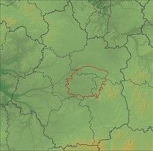 Carte topographique de la Sologne en région Centre-Val-de-Loire