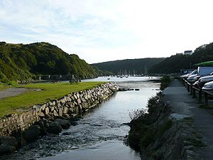 Solva - Solva Harbour showing Lime Kilns