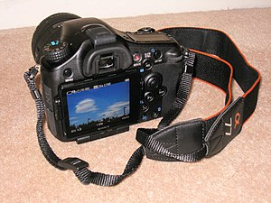 Sony Alpha 77 - back of the Alpha 77