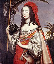 Sophie von der Pfalz als Indianerin