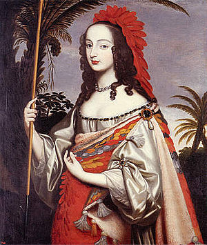 Sophia of Hanover - Sophia, dressed as an Indian. Painted by her sister (circa 1644), Louise Hollandine of the Palatinate