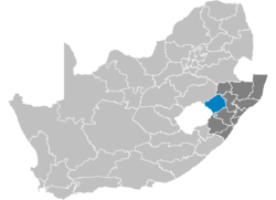 Ligging Uthukela District Municipality