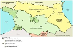 Adjar Autonomous Soviet Socialist Republic - Map of the Adjar Autonomous Soviet Socialist Republic in 1922.