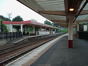 Sowerby Bridge railway station - Platform 2 at Sowerby Bridge railway station
