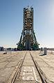 Soyuz TMA-10M spacecraft at the Baikonur Cosmodrome launch pad (8).jpg
