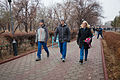 Soyuz TMA-19M backup crew during a tour through Baikonur.jpg