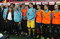Spain - Chile - 10-09-2013 - Geneva - Staff, Mario Suarez, Iker Casillas, Jesus Navas, Jordi Alba, and Andres Iniesta.jpg
