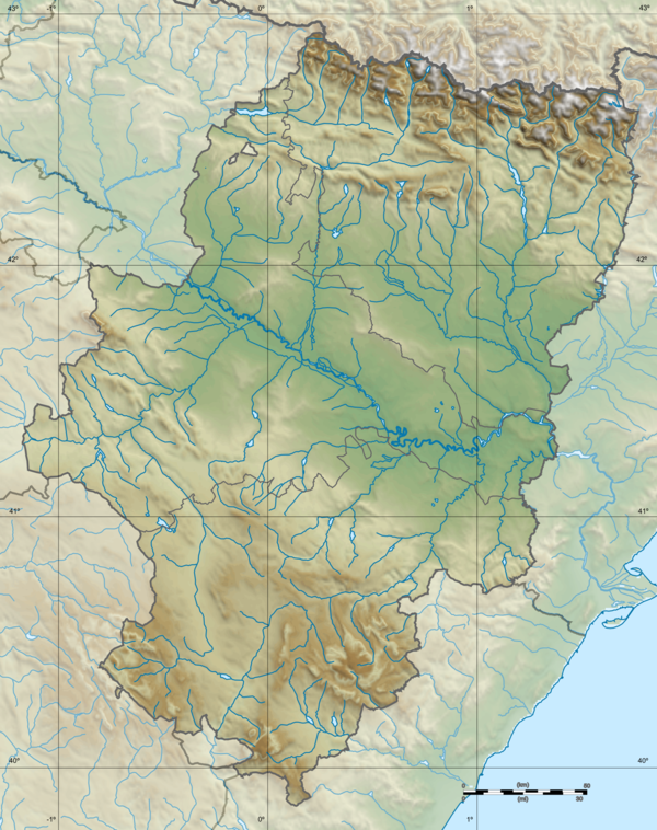 Spain Aragón location map relief.png
