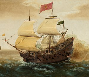 Spanish Galleon Firing its Cannon.jpg