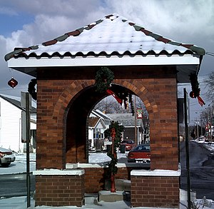The Town Pump at Christmastime