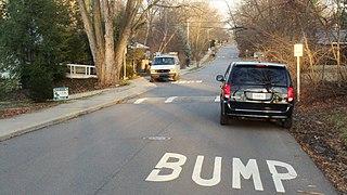 Speed bump traffic calming device