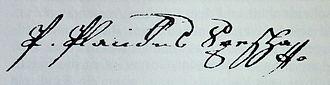 Placidus a Spescha - Image: Spescha Unterschrift