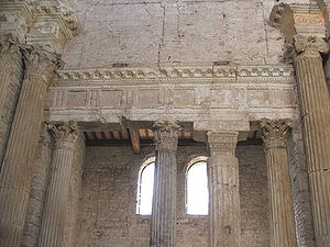 Architrave - Architrave in the Basilica di San Salvatore, Spoleto, Italy.