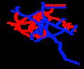 Spoorwegkaart Belgie van elektrificaties voor 1990.png