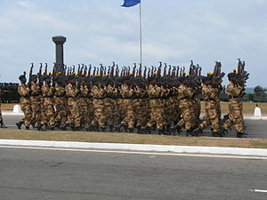 Sri Lanka Civil Security Force - The Civil Security Force at an independence day parade