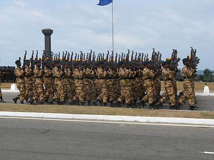The Sri Lanka Civil Security Force is a paramilitary militia tasked to serve as an auxiliary to the Sri Lanka Police. Sri Lanka Military 0092.jpg