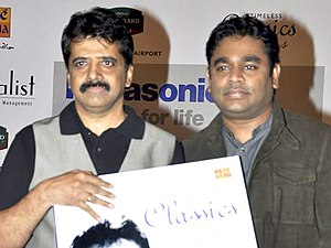 Srinivas (singer) - Srinivas (left) with Rahman