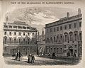 St Bartholomew's Hospital, London; the south-west corner of Wellcome V0013011.jpg