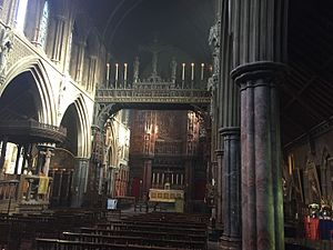 St Cuthbert's, Earls Court - Interior of the church and Rood Screen