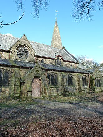 Whittingham Hospital - The disused St John's Anglican Church in the hospital grounds, a Grade II listed building