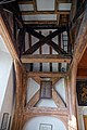 St Mary's Church, Stapleford Tawney, Essex, England ~ Bell turret post and beam supports.jpg