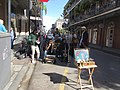 St Peter and Royal Street New Orleans 28th Jan 2019 Eight Dice Cloth Band 02.jpg