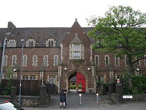 St Peter's College, Saltley - Main entrance gates to the GradeII listed St Peter's College, Saltley