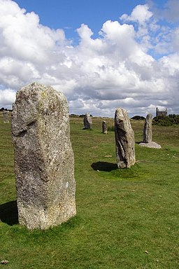 Standing stones in the central Hurlers stone circle - geograph.org.uk - 525755