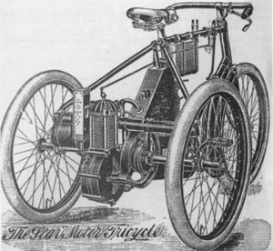 Star Motor Company - Star tricycle advert in 1899