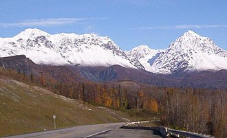 Sutton-Alpine, Alaska - Mountains surrounding Sutton in late fall.