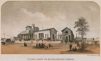 Den Haag HS railway station - The original building of Hollands Spoor, designed by Frederik Willem Conrad.