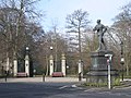 Statue of Lieut Colonel George Elliott Benson and the southeast gateway to The Sele - geograph.org.uk - 1762739.jpg