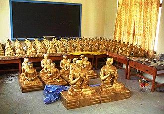 Buddharupa - Buddha statues for new monastery, Kullu, H.P., India
