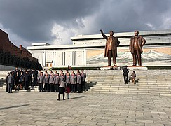 Statues of Kim Il-sung and Kim Jong-il in Pyongyang.jpg