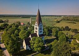 Stenkyrka church, aerial view.jpg